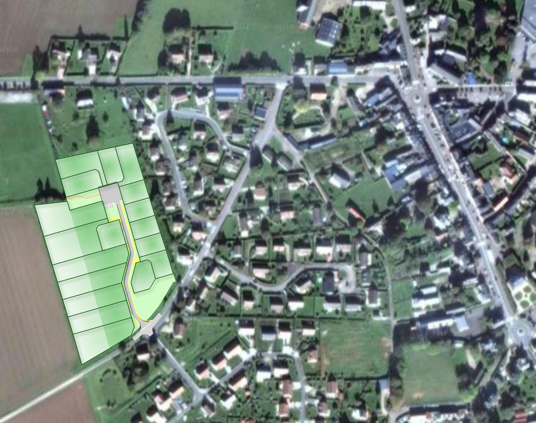 Terrain à vendre à Bosc-le-Hard - BOSC LE HARD - Route de Crécieusemare